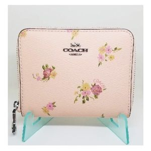 Coach Floral Zip Small Wallet